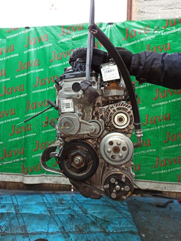 Двигатель Honda Fit GE6 L13A 2013 (б/у) ПРОБЕГ-28000КМ. 2WD. 2-Я МОД. КОСА+КОМП. ПОД А/Т. СТАРТЕР В КОМПЛЕКТЕ.