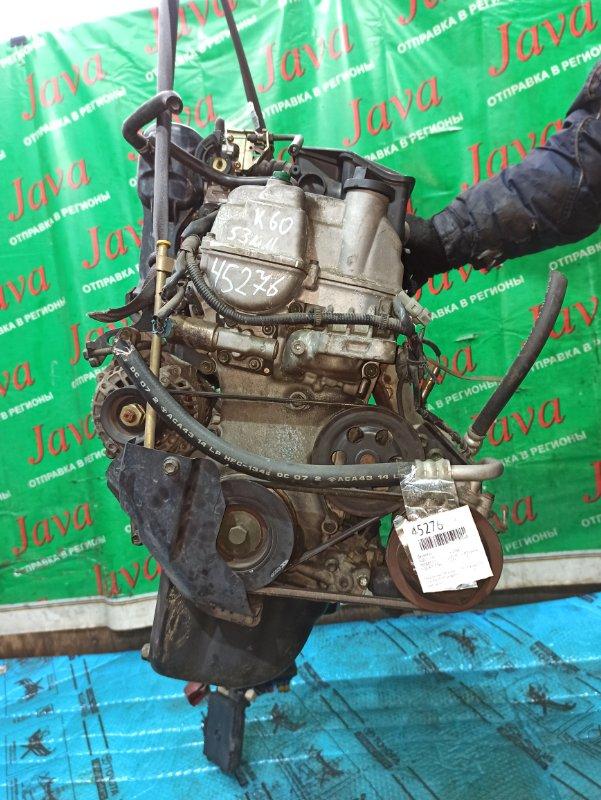 Двигатель Suzuki Kei HN22S K6A 2004 (б/у) ПРОБЕГ-53000КМ. 2WD. МЕХ.ЗАСЛОНКА. +КОМП. ПОД А/Т. СТАРТЕР В КОМПЛЕКТЕ.