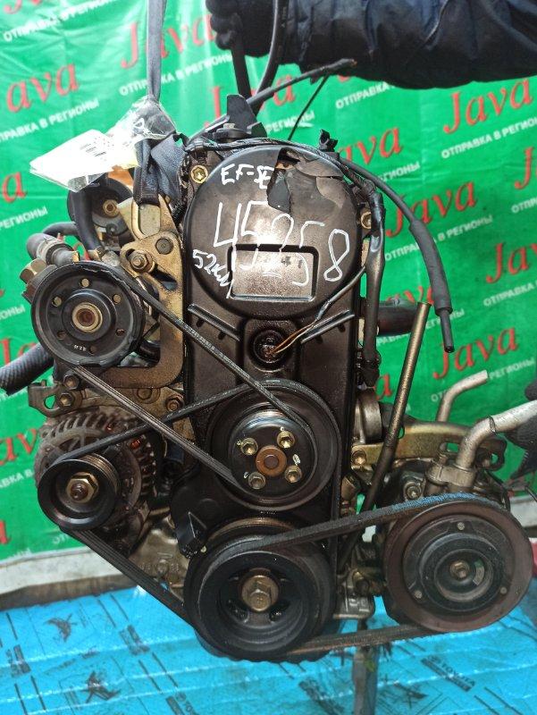 Двигатель Daihatsu Mira L700S EF-SE 2001 (б/у) ПРОБЕГ-52000КМ. 2WD. КОСА+КОМП. МЕХ. ЗАСЛОНКА.  ПОД А/Т. СТАРТЕР В КОМПЛЕКТЕ.