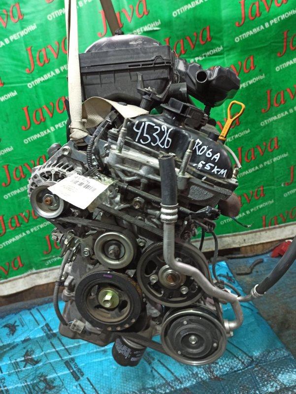 Двигатель Suzuki Wagon R MH35S R06A 2018 (б/у) ПРОБЕГ-55000КМ. 2WD. ПОД М/Т. +КОМП. СТАРТЕР В КОМПЛЕКТЕ. ПРОДАЖА БЕЗ МАХОВИКА