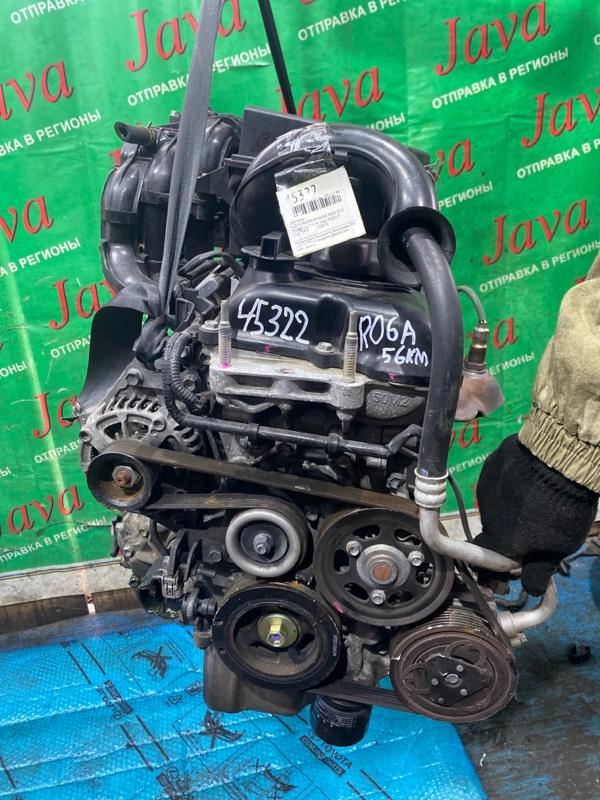 Двигатель Suzuki Wagon R MH34S R06A 2013 (б/у) ПРОБЕГ-56000КМ. 4WD. ПОД А/Т. +КОМП. СТАРТЕР В КОМПЛЕКТЕ.