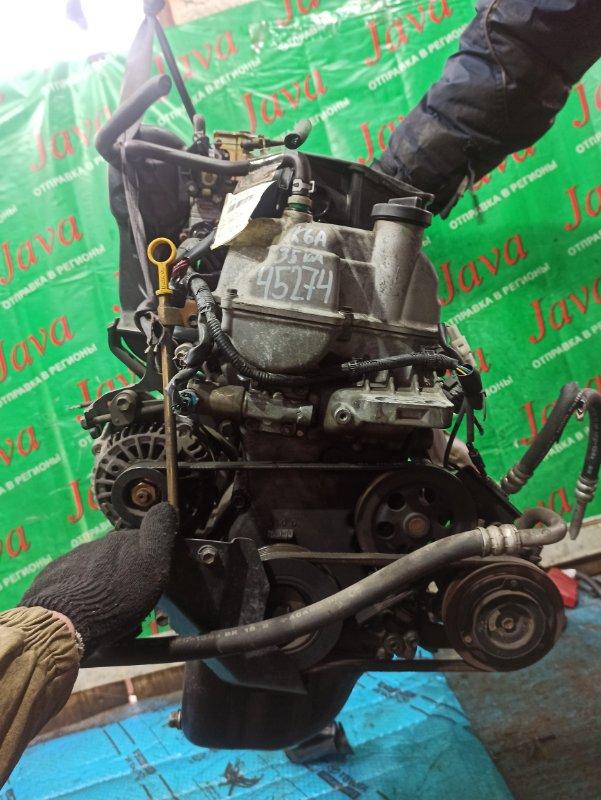 Двигатель Suzuki Wagon R MC22S K6A 2002 (б/у) ПРОБЕГ-35000КМ. 2WD. МЕХ.ЗАСЛОНКА. +КОМП. ПОД А/Т. СТАРТЕР В КОМПЛЕКТЕ. 34/34