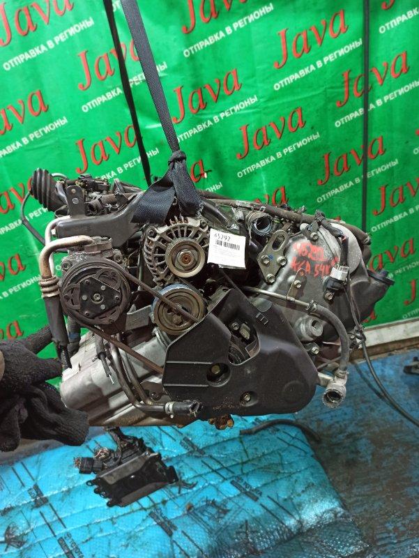 Двигатель Mazda Scrum DG64V K6A 2011 (б/у) ПРОБЕГ-54000КМ. 2WD. КОСА+КОМП. МЕХ.ЗАСЛОНКА. ПОД А/Т. СТАРТЕР В КОМПЛЕКТЕ.