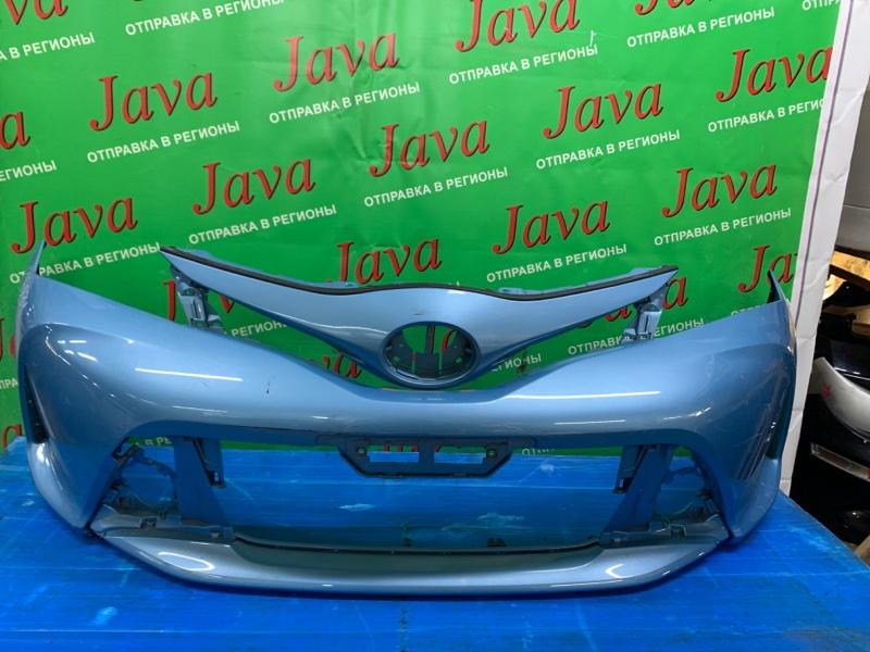 Бампер Toyota Vitz NSP130 1NR-FE 2013 передний (б/у) 2-я МОДЕЛЬ. ПОТЕРТОСТИ