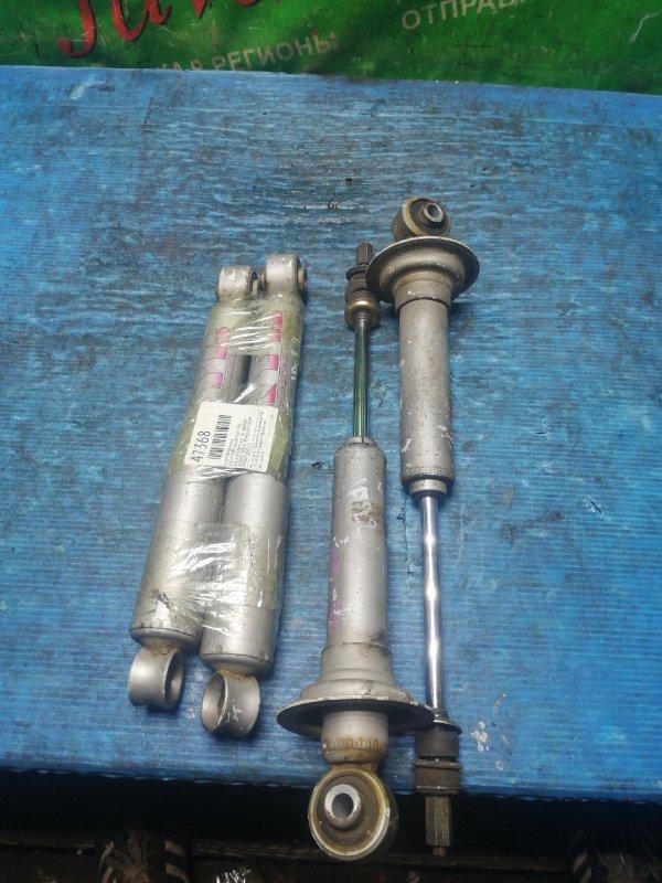 Амортизатор Suzuki Jimny JA22W K6A 1996 передний (б/у) KYB. КОМПЛЕКТ 4ШТ. НА ЗАДНЕМ ПОДМЯТ КОЖУХ. ПЕРЕДНИЙ ОДИН ПРОВАЛИВАЕТСЯ.