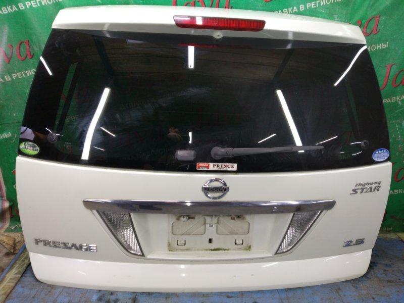 Дверь задняя Nissan Presage TU31 QR25DE 2006 задняя (б/у) ПОТЕРТОСТИ. СПОЙЛЕР.