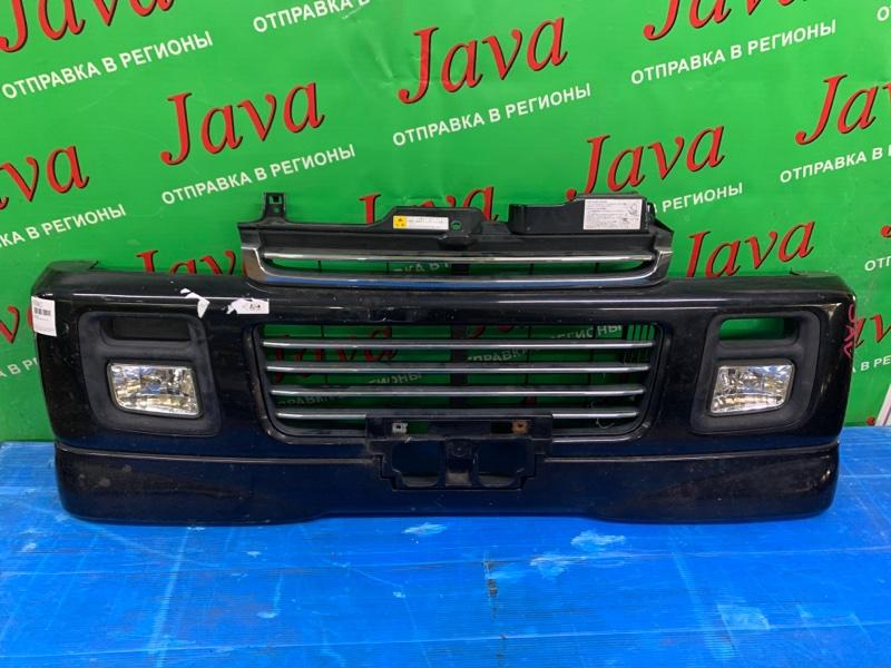 Бампер Mazda Scrum DG62W K6A 2005 передний (б/у) ПОТЕРТОСТИ. ДЕФЕКТ КРЕПЛЕНИЯ. ТУМАНКИ. ГУБА