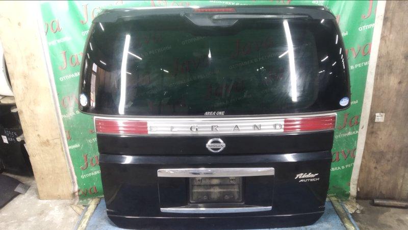 Дверь задняя Nissan Elgrand ME51 VQ25DE 2005 задняя (б/у) ПОТЕРТОСТИ. СПОЙЛЕР. КАМЕРА. МЕТЛА.