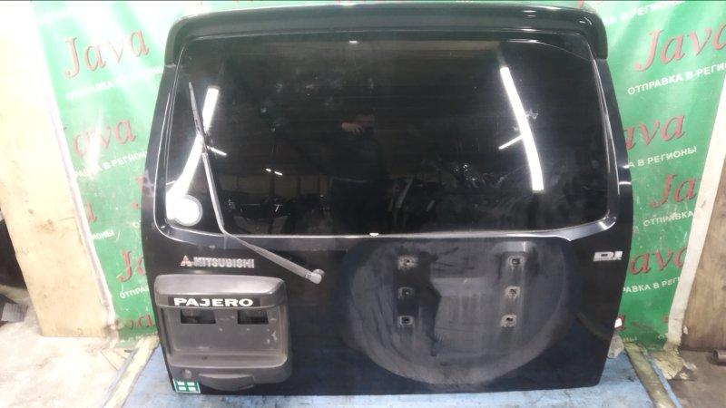 Дверь задняя Mitsubishi Pajero V78W 4M41 1999 задняя (б/у) ПОТЕРТОСТИ. СПОЙЛЕР. МЕТЛА. КАМЕРА. КРЕПЛЕНИЯ