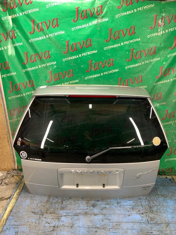 Дверь задняя Mitsubishi Chariot Grandis N84W 4G64 2000 задняя (б/у) ПОТЕРТОСТИ. МЕТЛА. СПОЙЛЕР
