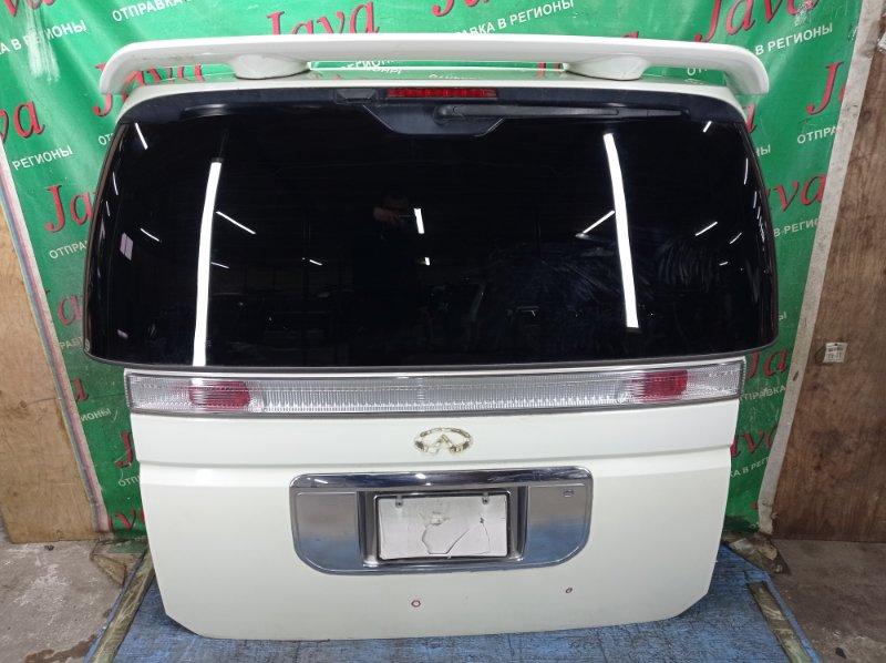 Дверь задняя Nissan Elgrand ME51 VQ25DE 2003 задняя (б/у) ПОТЕРТОСТИ. СПОЙЛЕР. МЕТЛА. КАМЕРА. ТЫЧКА.