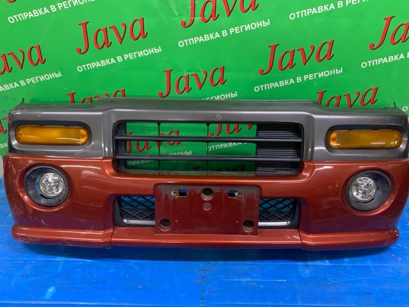 Бампер Honda Z PA1 E07Z 1999 передний (б/у) ПОТЕРТОСТИ. ДЕФЕКТ КРЕПЛЕНИЯ. НАКЛАДКА. ТУМАНКИ.