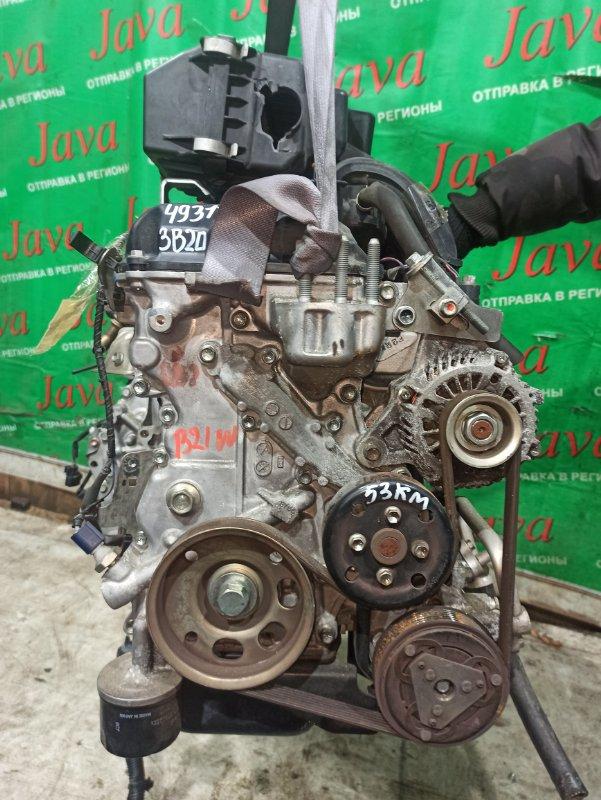 Двигатель Nissan Dayz B21W 3B20 2014 (б/у) ПРОБЕГ-53000КМ. 2WD. КОСА+КОМП. ЭЛЕКТРО ЗАСЛОНКА. ПОД А/Т. СТАРТЕР В КОМПЛЕКТЕ.