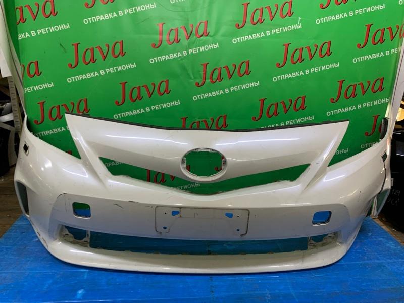 Бампер Toyota Prius Alpha ZVW41 2ZR-FXE 2012 передний (б/у) ПОТЕРТОСТИ. ПОРВАН.
