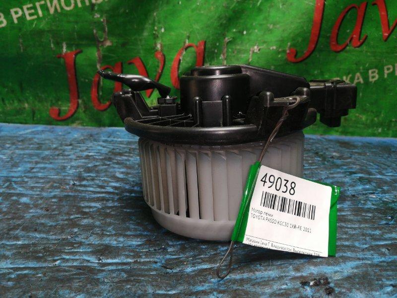 Мотор печки Toyota Passo KGC30 1KR-FE 2011 (б/у) 272700-0301