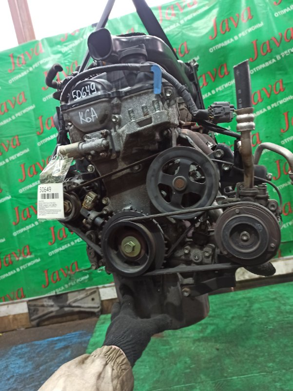 Двигатель Nissan Roox ML21S K6A 2011 (б/у) ПРОБЕГ-50000КМ. 2WD. ЭЛЕКТРО ЗАСЛОНКА. +КОМП. ПОД А/Т. СТАРТЕР В КОМПЛЕКТЕ.