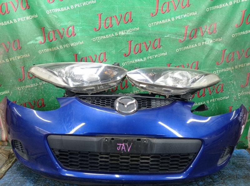 Ноускат Mazda Demio DE3AS ZJ-VE 2007 передний (б/у) 1-Я МОД. ФАРЫ ГАЛОГЕН. ПОД А/Т. ФАРЫ ПОД ПОЛИРОВКУ.