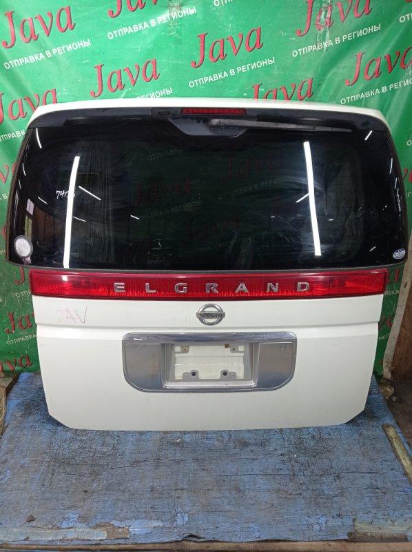 Дверь задняя Nissan Elgrand MNE51 VQ25DE 2002 задняя (б/у) ПОТЕРТОСТИ. МЕТЛА. КАМЕРА. СПОЙЛЕР