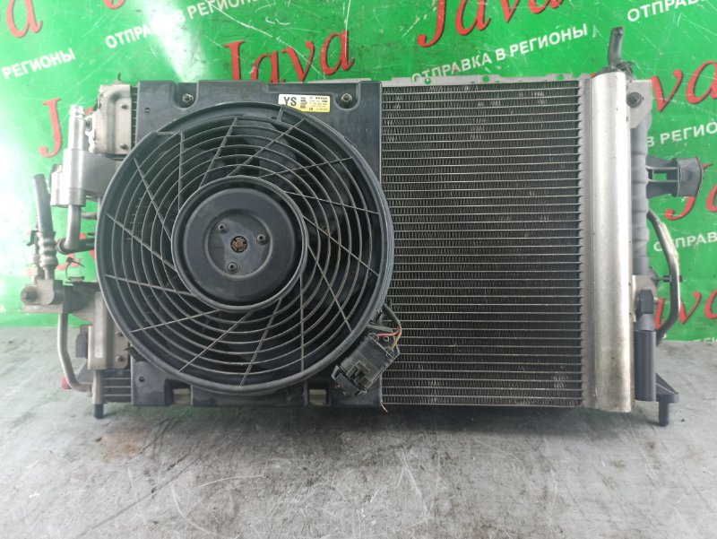 Радиатор основной Subaru Traviq TA-XM220 Z22 2004 передний (б/у) +радиатор кондиционера (ПОДМЯТ)