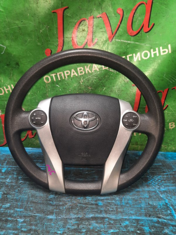 Руль Toyota Prius ZVW30 2ZR-FXE 2012 передний (б/у) БЕЗ ПАТРОНА AIR BAG. МУЛЬТИРУЛЬ.
