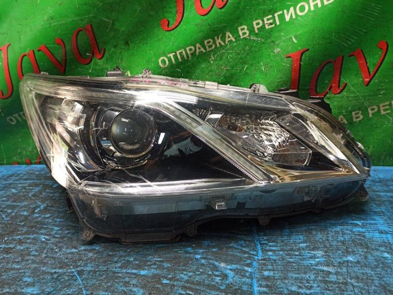 Фара Toyota Crown AWS210 2AR-FSE 2014 передняя правая (б/у) ПОТЕРТОСТИ. ДЕФЕКТ КРЕПЛЕНИЯ. ЛОМ КОРПУСА. 30-401