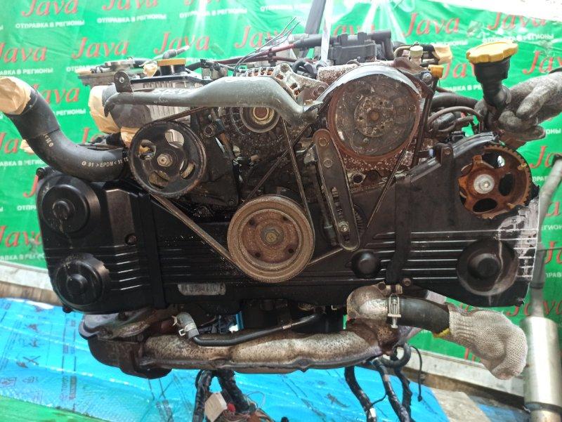 Двигатель Subaru Forester SF5 EJ205 2001 (б/у) ПРОБЕГ-75000КМ. 4WD. EJ205DWWBE. КОСА+КОМП. ПОД М/Т. СТАРТЕР В КОМПЛЕКТЕ. ЛОМ КРЫШКИ ГРМ. ПРОДАЖА БЕЗ МАХОВИКА.