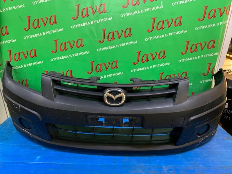Бампер Mazda Familia VY12 HR15DE 2012 передний (б/у) ПОТЕРТОСТИ. ДЕФЕКТ КРЕПЛЕНИЯ.