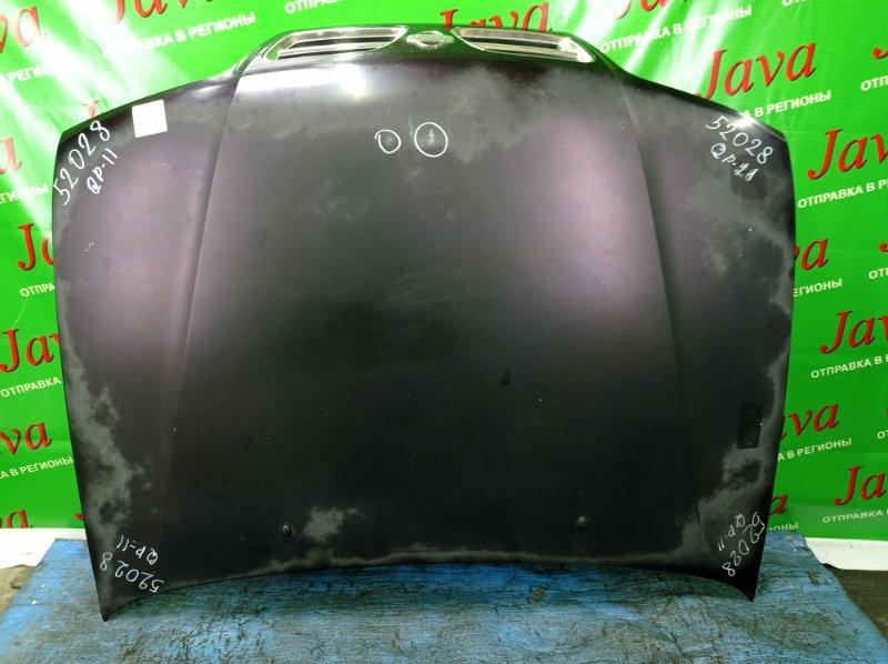 Капот Nissan Primera WQP11 QG18DD 2000 передний (б/у) 2-я МОДЕЛЬ. ПОТЕРТОСТИ. ТЫЧКИ. ПОЛЕЗ ЛАК.
