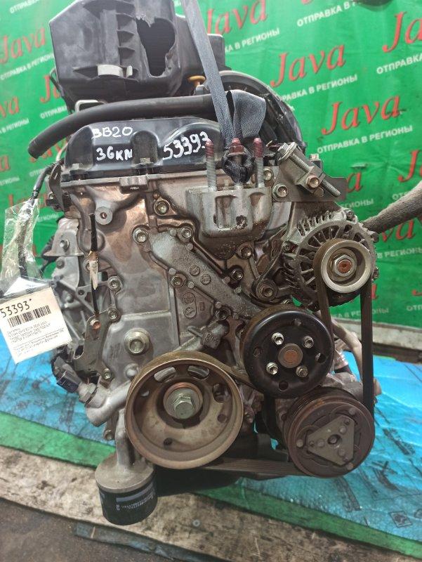 Двигатель Nissan Dayz B21W 3B20 2013 (б/у) ПРОБЕГ-36000КМ. 2WD. КОСА+КОМП. ПОД А/Т. СТАРТЕР В КОМПЛЕКТЕ.