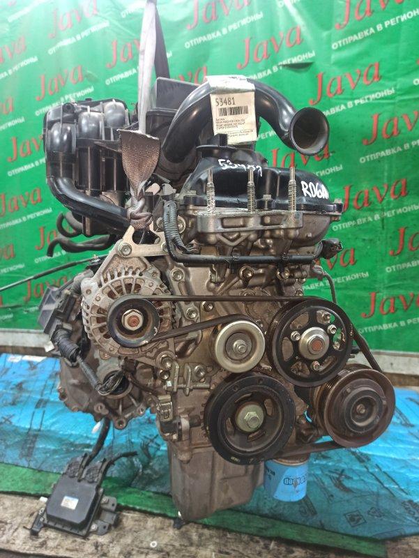 Двигатель Nissan Moco MG33S R06A 2011 (б/у) ПРОБЕГ-48000КМ. 2WD. +КОМП. ПОД А/Т. СТАРТЕР В КОМПЛЕКТЕ.