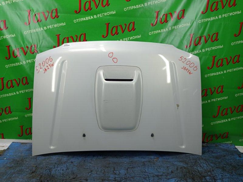 Капот Suzuki Jimny JB23W K6A 2005 передний (б/у) 2-я МОДЕЛЬ. ПОТЕРТОСТИ. ТЫЧКИ. СЛЕЗЛА КРАСКА.