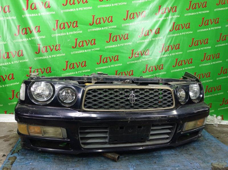 Ноускат Nissan Cedric HY33 VQ30DE 1995 передний (б/у) ПОЛЕЗ ХРОМ НА РЕШЕТКЕ. ЛОМ ДИФФУЗОРА.