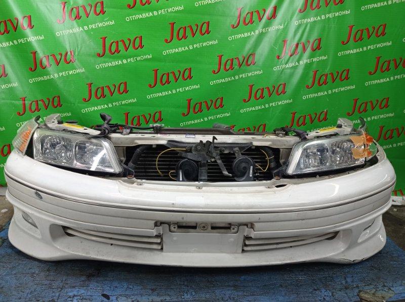 Ноускат Toyota Mark Ii Qualis SXV20 5S-FE 2000 передний (б/у) 2-Я МОД. ФАРЫ ГАЛОГЕН. ТУМАНКИ. ГУБА. ДЕФЕКТ ПОВОРОТНИКОВ.