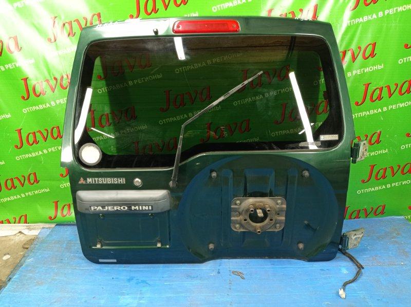 Дверь задняя Mitsubishi Pajero Mini H58A 4A30 1999 задняя (б/у) ПОТЕРТОСТИ. ПОЛЕЗ ЛАК. МЕТЛА. +ПЕТЛИ