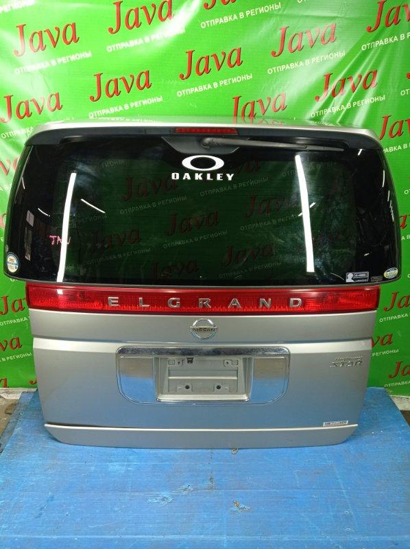 Дверь задняя Nissan Elgrand ME51 VQ25DE 2003 задняя (б/у) ПОТЕРТОСТИ. СПОЙЛЕР. МЕТЛА. КАМЕРА