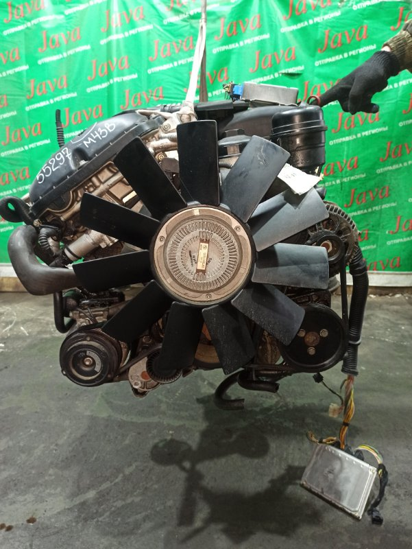 Двигатель Bmw 3-Series E46 M52B20 2000 (б/у) ПРОБЕГ-64000КМ. 2WD. 206S4. КОСА+КОМП. ПОД А/Т. СТАРТЕР В КОМПЛЕКТЕ. WBAAM12000FN06465. ДЕФЕКТ КЛАПАННОЙ КРЫШКИ.