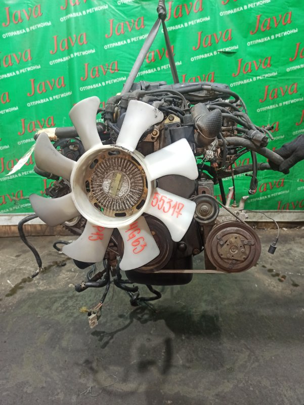 Двигатель Mitsubishi Delica P13 4G63 1998 (б/у) ПРОБЕГ-67000КМ. 2WD. КАРБЮРАТОР. ПОД А/Т. СТАРТЕР В КОМПЛЕКТЕ.