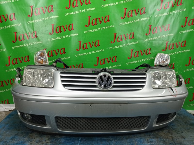 Ноускат Volkswagen Polo 6N2 AUA 2002 передний (б/у) ТУМАНКИ. ФАРЫ ГАЛОГЕН. WVWZZZ6NZ1D104487. ДЕФЕКТ ГАБАРИТОВ. НАДРЫВ НА БАМПЕРЕ.