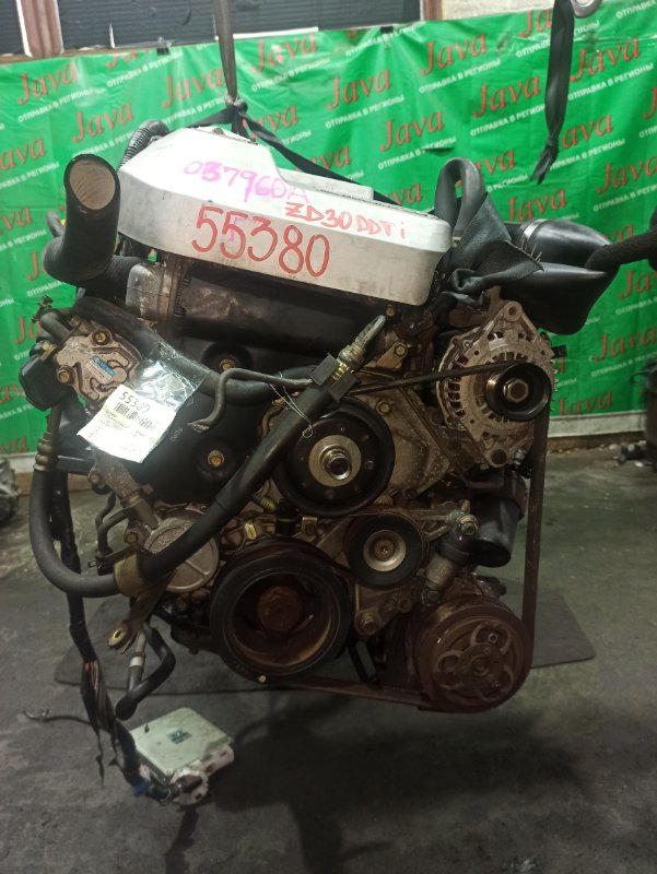 Двигатель Nissan Elgrand ATWE50 ZD30DDTI 2000 (б/у) ПРОБЕГ-75000КМ. 4WD. +КОМП. ПОД А/Т. СТАРТЕР В КОМПЛЕКТЕ.