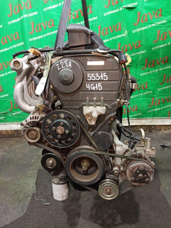 Двигатель Mitsubishi Colt Z27A 4G15 2004 (б/у) ПРОБЕГ-49000КМ. 2WD. КОСА+КОМП. ЭЛЕКТРО ЗАСЛОНКА. ПОД А/Т. СТАРТЕР В КОМПЛЕКТЕ.