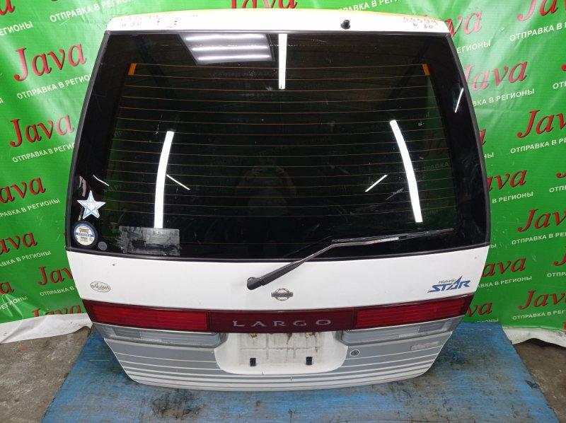 Дверь задняя Nissan Largo W30 KA24DE 1996 задняя (б/у) ПОТЕРТОСТИ. МЕТЛА.+ЗЕРКАЛО