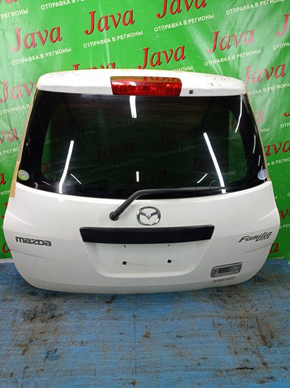 Дверь задняя Mazda Familia VY12 HR15DE 2010 задняя (б/у) ПОТЕРТОСТИ. МЕТЛА.