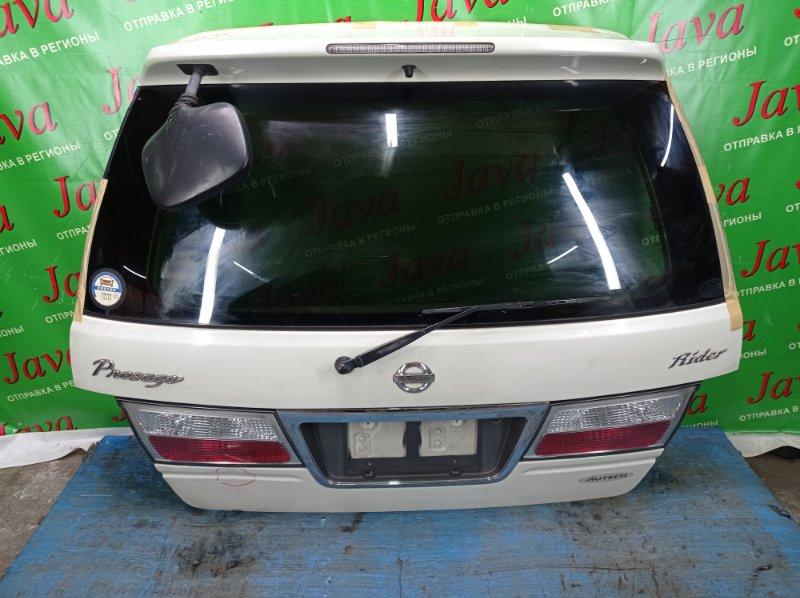 Дверь задняя Nissan Presage U30 KA24DE 2001 задняя (б/у) ПОСЛЕ РЕМОНТА В ЯПОНИИ. ПОТЕРТОСТИ. ТРЕЩИНА НА СТОП ВСТАВКЕ.