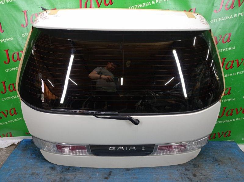 Дверь задняя Toyota Gaia SXM10 3S-FE 2000 задняя (б/у) ПОТЕРТОСТИ. ТРЕЩИНА НА СТОП ВСТАВКЕ. СПОЙЛЕР. МЕТЛА. СКОТЧ.