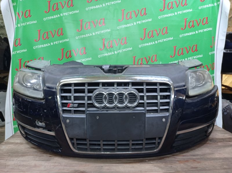 Ноускат Audi S6 4F2 2005 передний (б/у) КСЕНОН. ТУМАНКИ. НЕТ ЗАГЛУШКИ НА БАМПЕРЕ. WAUZZZ4F95N044974