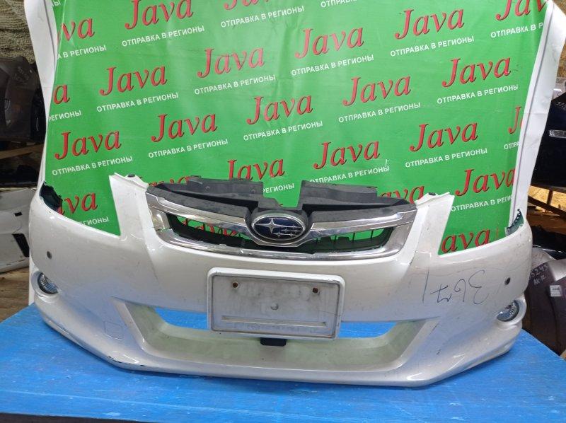 Бампер Subaru Exiga YA5 EJ204 2010 передний (б/у) ТУМАНКИ. СОНАРЫ. РЕШЕТКА (ЛОМ)