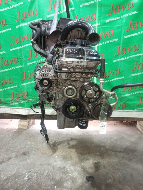 Двигатель Nissan Moco MG33S R06A 2013 (б/у) ПРОБЕГ-29000КМ. 2WD. +КОМП. ПОД А/Т. СТАРТЕР В КОМПЛЕКТЕ. ЛОМ ДАТЧИКА ЗАСЛОНКИ.
