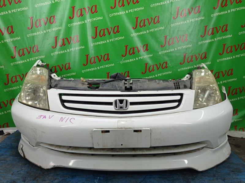Ноускат Honda Stream RN1 D17A 2001 передний (б/у) 1-Я МОД. КСЕНОН. ГУБА(ЛОМ). ДЕФЕКТ ВЕРХНЕГО КРЕПЛЕНИЯ ПРАВОЙ ФАРЫ.