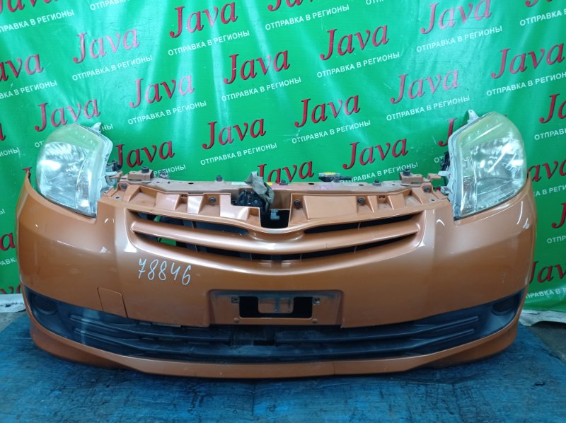 Ноускат Toyota Passo Sette M502E 3SZ-VE 2010 передний (б/у) ФАРЫ ГАЛОГЕН. ДЕФЕКТ БАМПЕРА С НИЗУ.