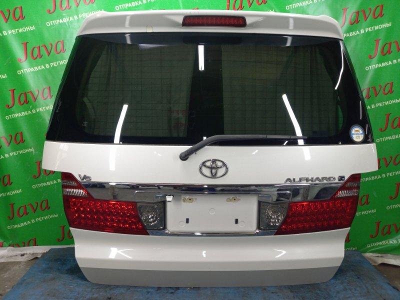 Дверь задняя Toyota Alphard MNH10 1MZ-FE 2002 задняя (б/у) ПОТЕРТОСТИ. МЕТЛА. СПОЙЛЕР. КАМЕРА